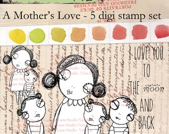 Mother's love digi stamp set, perfect for Mother's Day