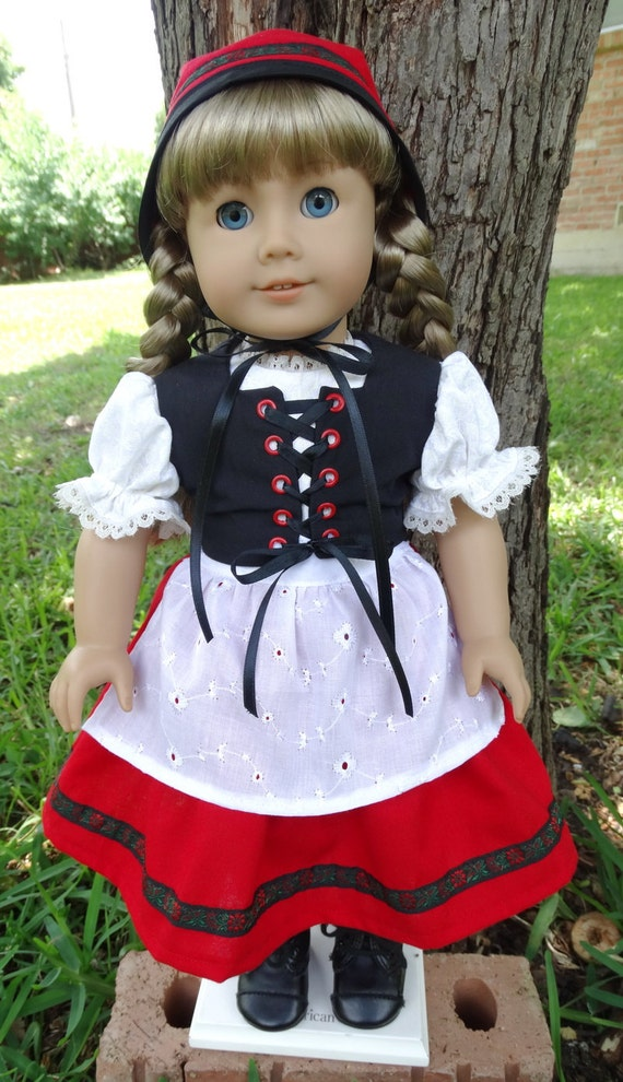 18 Doll Clothes Swiss Miss Folk Costume Fits American
