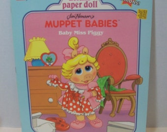 On Clearance - Vintage Muppet Babies deluxe paper dolls - Baby Miss Piggy 0307016986