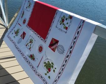 Mid CenturyTablecloth - Mid Mod Tablecloth - Glamper Glamping Tablecloth - Picnic Tablecloth - Free Shipping - 6MTT15
