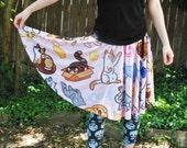 Kitty Cat Pattern Skater Skirt