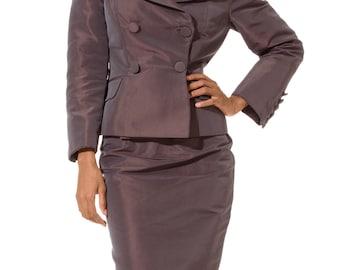 1990-1994 Sophie Sitbon Gray Iridescent Suit Size: S/M