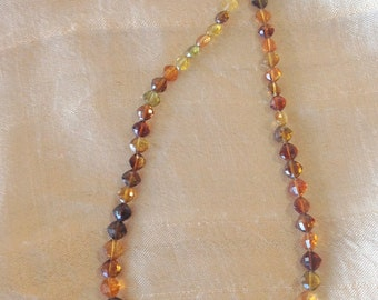 Multi-hued Cognac Quartz Necklace