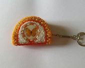 Coinpurse Keychain Orange Butterfly
