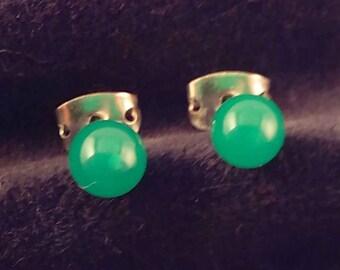 SRA artist earrings lampwork glass S819