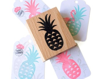 Pineapple Large wooden stamp