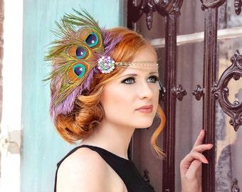 Lovely Lavender Gatsby Style Fascinator