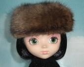 Brown Mink Hat For Fashion Dolls