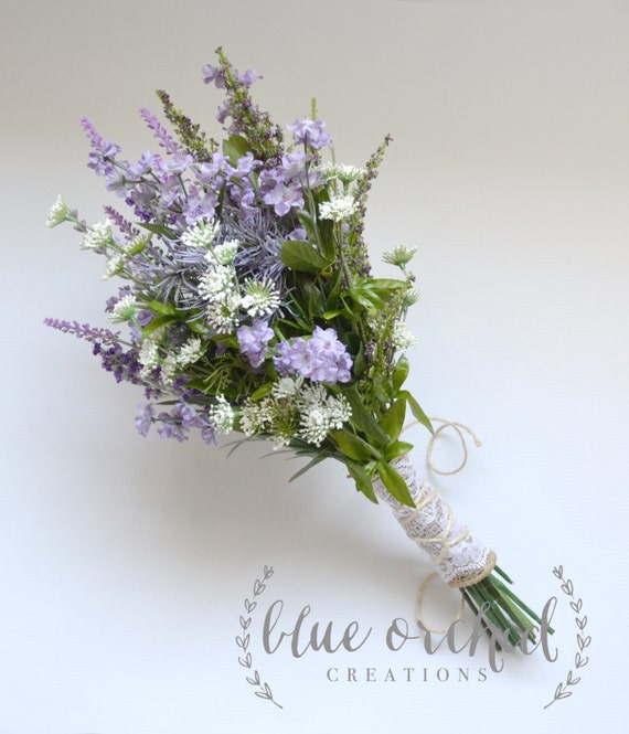 Wild Flower Wedding Bouquet: Items Similar To Purple Wildflower Bouquet