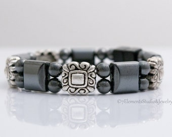Magnetic Therapy Bracelet, Magnetic Hematite Bracelet