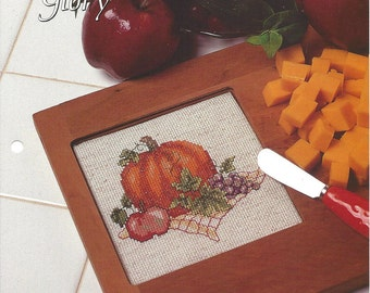Cross Stitch Pattern Autumn's Glory - The Needlecraft Shop Cross Stitch Collector's Series - Counted Cross Stitch Embroidery, Cheeseboard