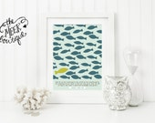 INSTANT DOWNLOAD, Scripture Art, Fish, Nautical, Romans 12:2, Do Not Be Conformed, Printable, No. 564