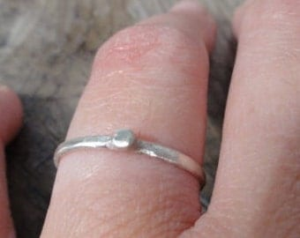 SALE sterling silver Ring - Sterling Silver stackable , silver stackable ring,silver bubble ring, silver dot ring