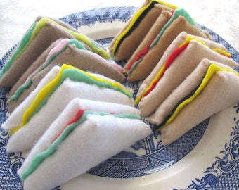 Felt Play Food Bread, Pretend Food, Fake Food Sandwiches