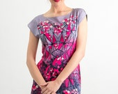 Forest berries -  printed chiffon tunic