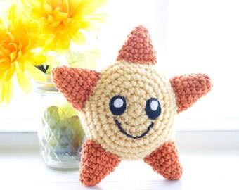 Sunshine Plush Toy - Custom Made -  Crochet Sun Toy