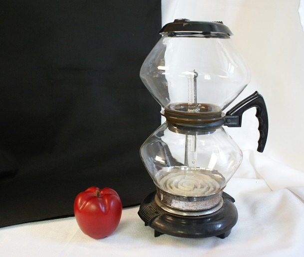 Ge Coffee Maker Filter : Antique GE Coffee Percolator Vacuum Coffeemaker by RusticBuckets