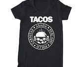 TACOS Ramones T-Shirt, Taco shirt, Taco Tuesday Tee, Mexican t-shirt, food pun, Foodie T Shirt, Chef T Shirt, Punk Rock tee, Womans T Shirt