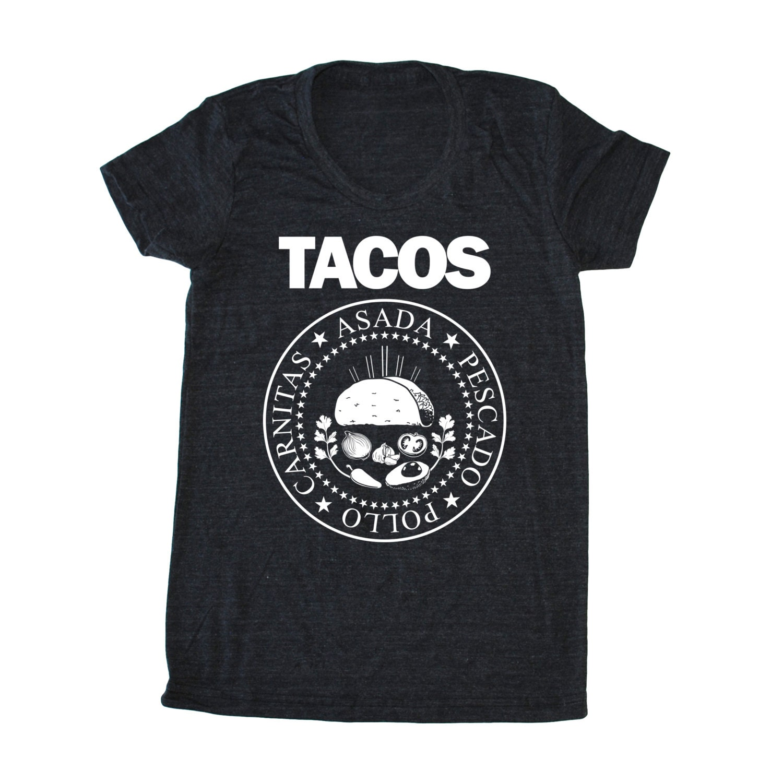TACOS Ramones T-Shirt funny women's Taco shirt Taco