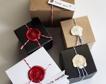 Set of 10 Initial Wax Sealed Soap Favors