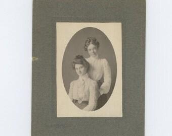 "Antique Victorian Cabinet Photo: ""Eda & Nora"" (57387)"