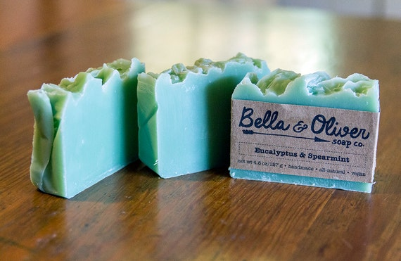 Eucalyptus & Spearmint Vegan Soap by Bella and Oliver Soap Co.