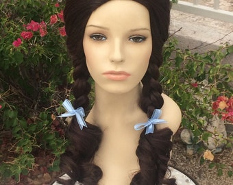 Dorothy Wizard Oz Pigtail Gale Wig