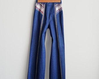 Vintage Girls Bell Bottoms 1970's denim pants