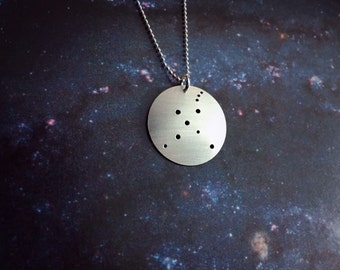 Cygnus Constellation sterling silver necklace