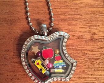 Teacher Memory Locket Necklace
