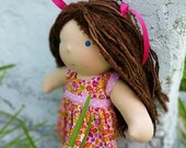 Waldorf Doll, Waldorf Inspired Doll, Fabric Doll, Cloth Doll, Handmade Doll, 12 inch Waldorf doll, Waldorf Doll Dresses