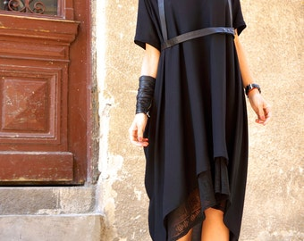 NEW  Maxi Combo Dress / Tank Top and  Maxi Tunic / Black Dress / Extravagant Long Dress / Party Kaftan  / Daywear Dress by AAKASHA A03223
