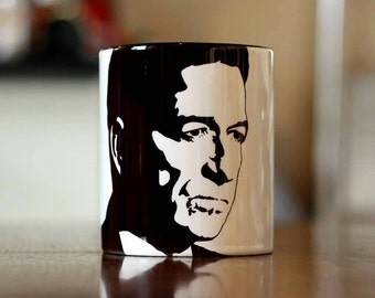 Sean Pertwee, Gotham, Batman, Alfred Pennyworth, Equilibrium, Dog Soldiers, Hand Printed cup.
