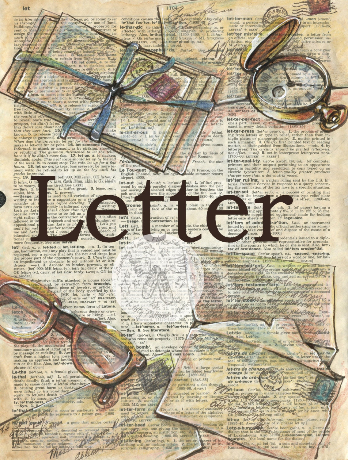 riot letters on antique poster stock photos image 35329363 print letter mixed media drawing on antique dictionary 124