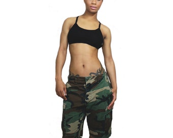 Authentic Vintage Loose Fitted Camo Cut Off Shorts