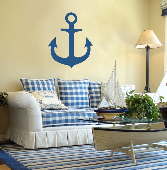 Nautical Wall Decals Anchor Vinyl Stickers Mirror By Decalcoman