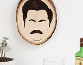 Ron Swanson Portrait Wall Hanging