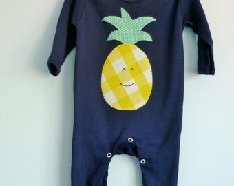 Pineapple babygrow - baby clothes - kidswear - trendy sleepsuit