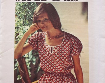 1970's Peasant Top/ Boho /Butterick 3612 /UNCUT /Vintage Sewing Pattern