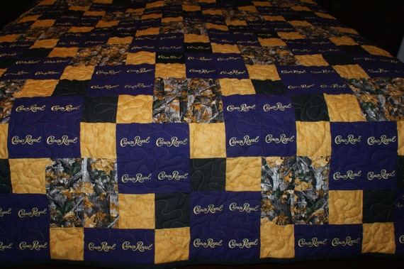 Crown Royal Quilt Custom Made to Order Crown Royal Quilt : crown royal quilt patterns free - Adamdwight.com