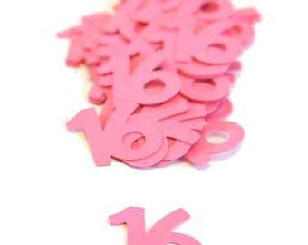 16 Confetti ~ Sweet 16th Birthday ~ Quinceanera ~ Multiple Colors ~ Multiple Years ~ 16th Party Table Confetti ~ Decor ~ 50 Pieces