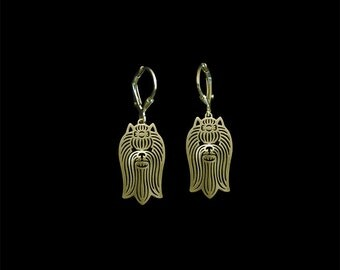 Yorkshire Terrier earrings - gold