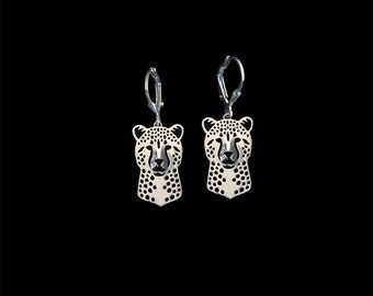 Cheetah earrings - sterling silver