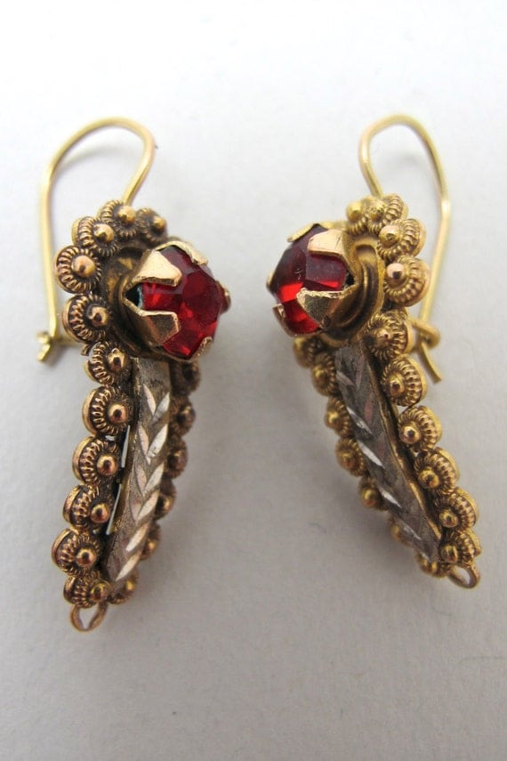 mexican earrings traditional vintage mexican gold gusano earrings 2394