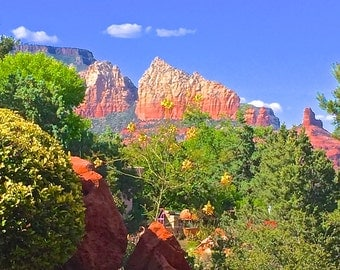 Sedona photo card, Sedona Ridges photo card, Sedona landscape photo card, Sedona Skies photo card, blank card, blank photo card
