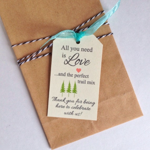 Instant Download Trail Mix Gift Tag Cards Printable Digital