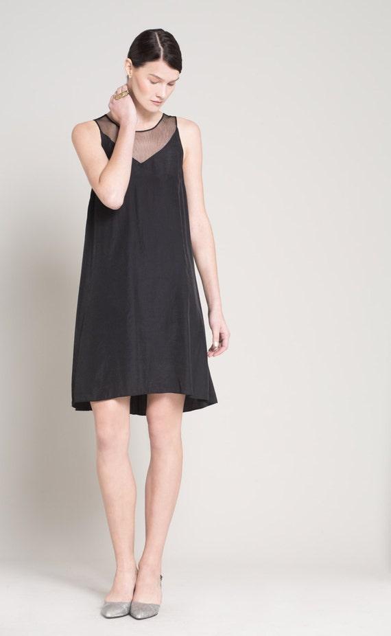 Tulle Sheer Dress Little Black Dress Wedding Guest By Lennyuzan