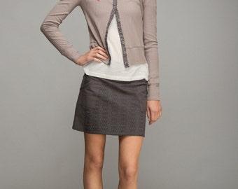 Summer skirt, Grey skirt, Mini skirt, Short skirt, Cotton skirt