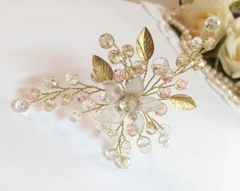 Bridal Hair Pin, Bridal Hair Pins, Flower Headpiece, Hair Pin Bride, Bridal Hair Accessories, Bridal Headpiece, Hair Pin Headpiece, Bridal