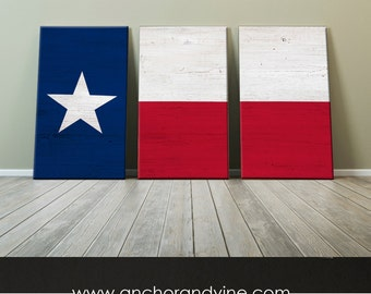 CANVAS // Texas Flag //  Oversized Canvas, Large Wall Art, Home Decor, Modern Art, Decoration, State Flag, Dallas, Cowboy
